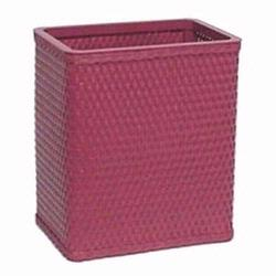 S426-RB Redmon Chelsea Collection Square Wastebasket - Rasberry
