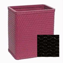S426-BLK Redmon Chelsea Collection Square Wastebasket - Black