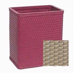S426-MO Redmon Chelsea Collection Square Wastebasket - Mocha