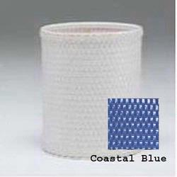 R426-CB Redmon Chelsea Collection Round Wastebasket - Coastal Blue