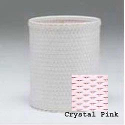 R426-CP Redmon Chelsea Collection Round Wastebasket - Crystal Pink
