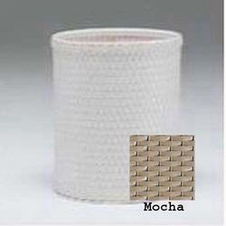 R426-MO Redmon Chelsea Collection Round Wastebasket - Mocha