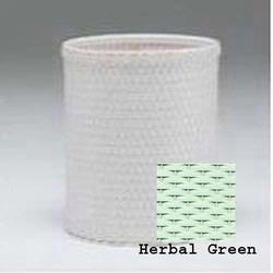 R426-HG Redmon Chelsea Collection Round Wastebasket - Herbal Green