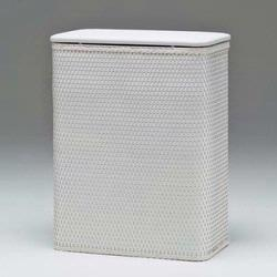 425-WH Redmon Chelsea Collection Hamper With Vinyl Lid - White