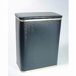 228-BKGD Bath Jewelry Collection Rectangular Hamper - Black With Gold Lining