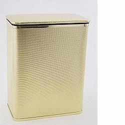 228-GDGD Bath Jewelry Collection Rectangular Hamper - Gold with Gold Lining