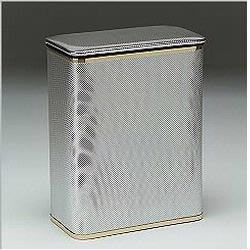 228-SVGD Bath Jewelry Collection Rectangular Hamper - Silver with Gold Lining