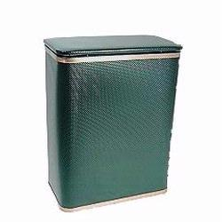 228-EGGD Bath Jewelry Collection Rectangular Hamper - Emerald Green with Gold Lining