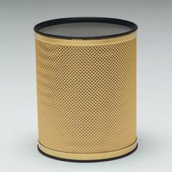R228-GDGD Redmon Bath Jewelry Collection Round Wastebasket - Gold With Gold Lining