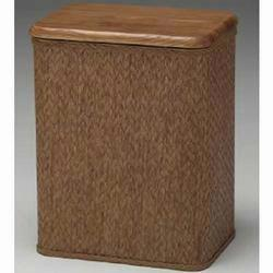 7250 Redmon American Oak Anthology Compact Hamper With Oak Lid