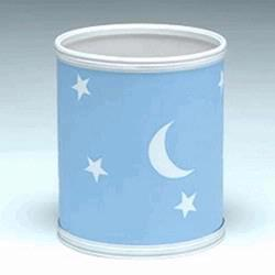 Redmon 7131BL Stars and Moons Round Wastebasket - Blue
