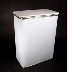 2291-WG Redmon Traditional Times JUMBO Vinyl Hamper - White With Gold Trim