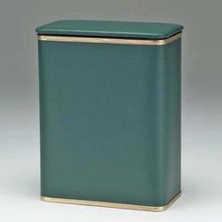1390-GG Redmon Budget Series Vinyl Hamper -Green With Gold Trim