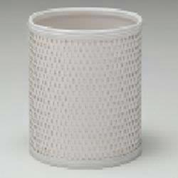 4253 Redmon Budget Series Wicker Wastebasket  (White)
