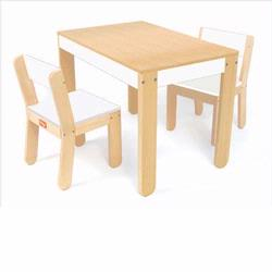1044 Pkolino Little One's Table and Chairs - White