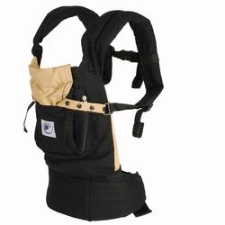 Ergo Baby BC6CA Black Baby Carrier with Camel Lining