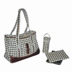 Kalencom 280 Weekender Diaper Bag - Heavenly Dots - Cafe au Lait