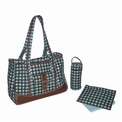 Kalencom 280 Weekender Diaper Bag - Heavenly Dots - Chocolate