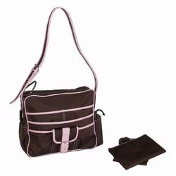 Kalencom 281 Multitasking Diaper Bag - Chocolate/Pink