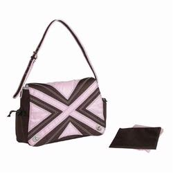 Kalencom 282 Hannah's Messenger Diaper Bag - Chocolate/Pink