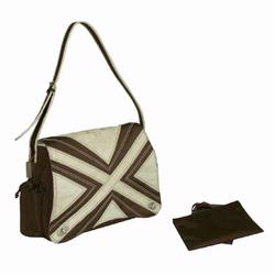 Kalencom 282 Hannah's Messenger Diaper Bag - Chocolate/Tan
