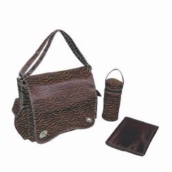 Kalencom 287 Scallop Messenger Diaper Bag - Safari Fantasy