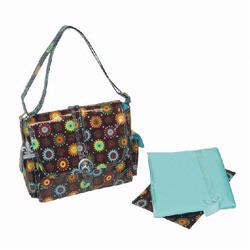 Kalencom 2959 Midi Coated Buckle Diaper Bag - Doodle Bugs - Chocolate