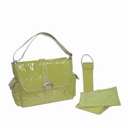 Kalencom 2960 Laminated Buckle Diaper Bag - Avocado Corduroy