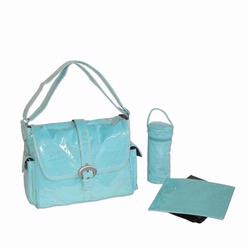 Kalencom 2960 Laminated Buckle Diaper Bag - Baby Blue Corduroy