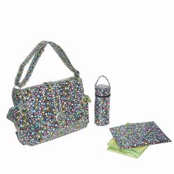 Kalencom 2960 Laminated Buckle Diaper Bag - Bubbles Pastel