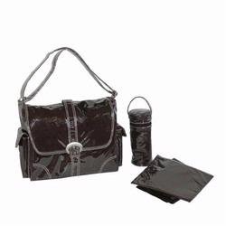 Kalencom 2960 Laminated Buckle Diaper Bag - Chocolate Corduroy