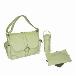 Kalencom 2960 Laminated Buckle Diaper Bag - Cream Corduroy