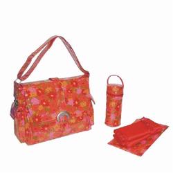 Kalencom 2960 Laminated Buckle Diaper Bag - Hoodies Garden - Orange
