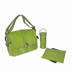 Kalencom 2960 Laminated Buckle Diaper Bag - Kiwi Corduroy