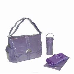Kalencom 2960 Laminated Buckle Diaper Bag - Purple Corduroy