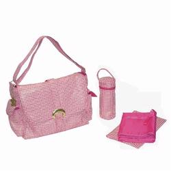 Kalencom 2960 A Step Above Laminated Buckle Diaper Bag - Jackie O - Pink