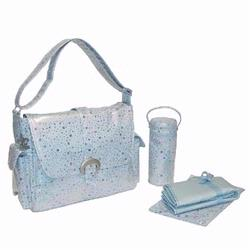Kalencom 2960 A Step Above Laminated Buckle Diaper Bag - Soap Bubbles - Blue