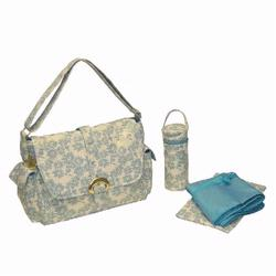 Kalencom 2960 A Step Above Laminated Buckle Diaper Bag - Sugar and Spice - Blue