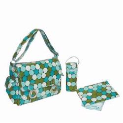 Kalencom 2961 Coated Double Buckle Diaper Bag - Fun Dots - Seaside