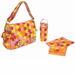 Kalencom 2961 Coated Double Buckle Diaper Bag - Fun Dots - Tropical