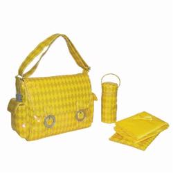 Kalencom 2961 A Step Above Coated Double Buckle Bag - Harlequin - Yellow