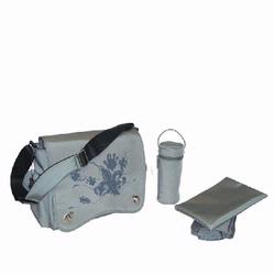 Kalencom 2962 Sam's Messenger Diaper Bag - Gray Screened