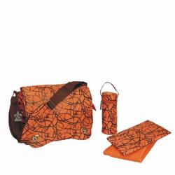 Kalencom 2962 Sam's Messenger Diaper Bag - Orange Ripstop