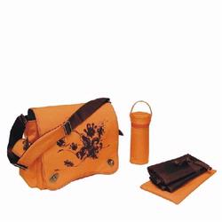 Kalencom 2962 Sam's Messenger Diaper Bag - Orange Screened