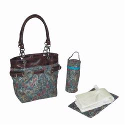 Kalencom 2968 Midi Ultimate Tote Diaper Bag - Paisley Blue