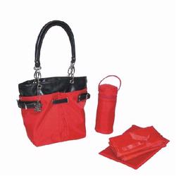 Kalencom 2968 Midi Ultimate Tote Diaper Bag - Red Nylon