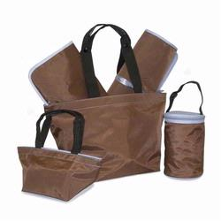 Kalencom 260 5 Piece Tote Set - Chocolate/Light Blue