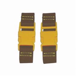 Kalencom 1735 Stroller Straps - Brown - Yellow Clips
