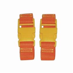 Kalencom 1735 Stroller Straps - Orange - Yellow Clips