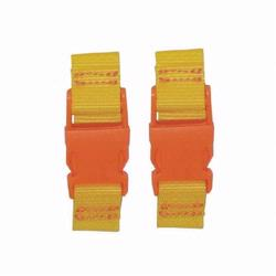 Kalencom 1735 Stroller Straps - Yellow- Orange Clips